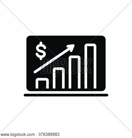 Black Solid Icon For Market-forecast Analysis Economy Forecast Diagram Economic Financial Success
