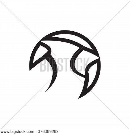 Line Icon Bird Cardinal Symbol Vector On White Background