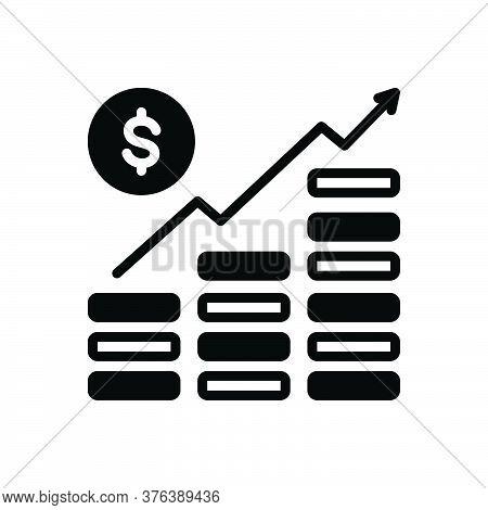 Black Solid Icon For Money-growth Managment Revenue Increase Progress Planning Arrow