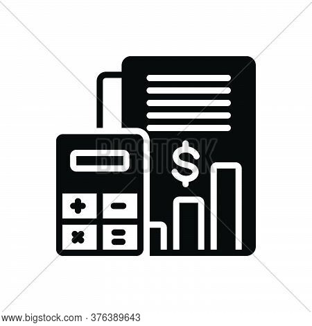 Black Solid Icon For Budget-accounting Budget Bank Money Cash Currency Finance Management Calculator
