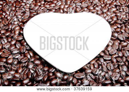 Fragrant Fried Coffee Beans A-smoke