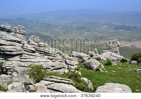 Spring View Of El Torcal Nature Reserve