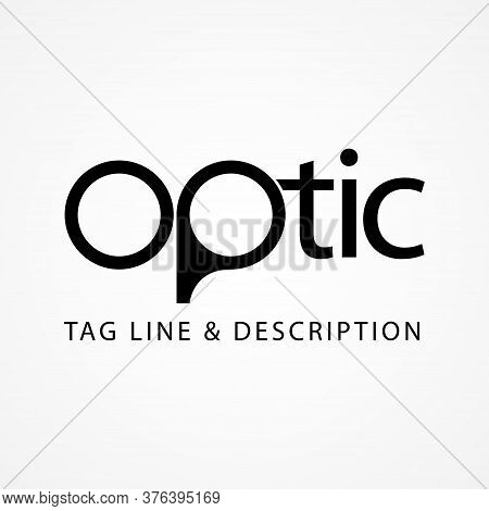 Simple Optic Vector Symbol Design Isolated On White