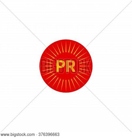 Pr Abstract Minimal Logo In Shape Of Circle With Rays