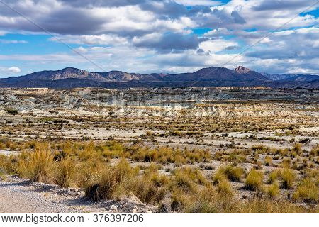 The Badlands Of Abanilla And Mahoya Near Murcia In Spain. An Area Where A Lunar Landscape Has Been F