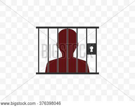 Jail, Prison Icon. Vector Illustration, Flat Design.