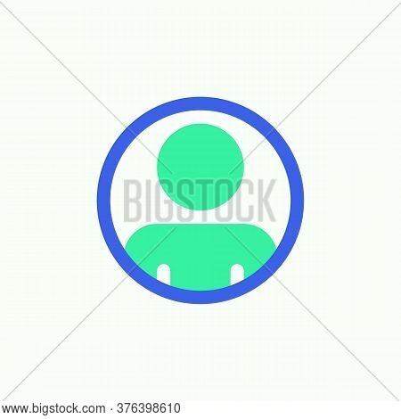 User Contact Icon Vector, Filled Flat Sign, Contact Profile Bicolor Pictogram, Green And Blue Colors