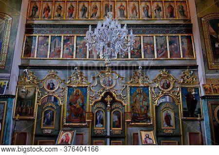 Fruska Gora / Serbia - March 24, 2019: Iconostasis In The Mala Remeta, Serbian Orthodox Monastery On