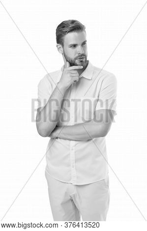 Casual Comfortable Outfit. Modern Style. Spring Collection. Casual Style. Man Posing Confidently. Ma