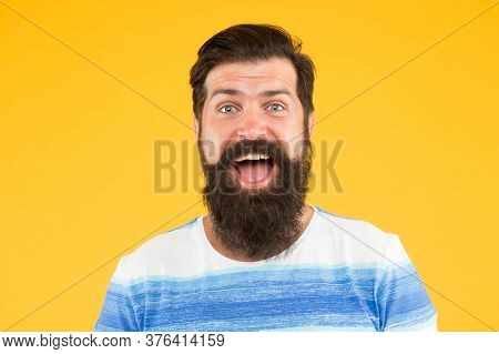 Just Fabulous Hair. Brutal Caucasian Guy With Moustache. Mature Hipster With Beard. Happy Unshaven M