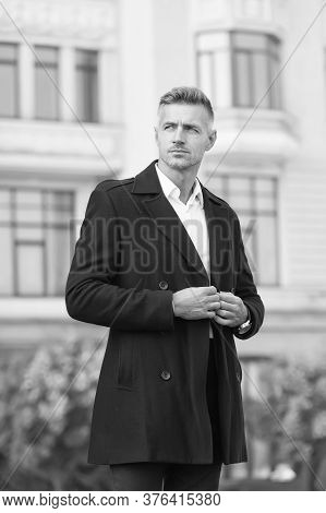 Classic Is Always Appropriate. Business Concept. Business Life. Man Classic Style Urban Background.