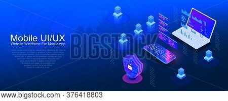 Reliable System Protection Of Your Electronic Money Account. Internet Banking Protection Concept. Pr