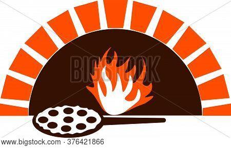 Pizza Oven, Color Vector Logo For Pizzeria