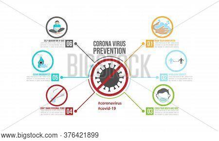Coronavirus Prevention Infographics Template