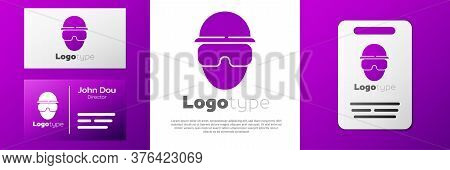Logotype Special Forces Soldier Icon Isolated On White Background. Army And Police Symbol Of Defense