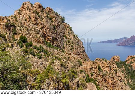 The Calanques De Piana And The Sea In Corsica, France