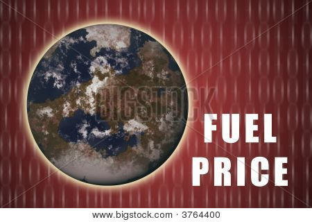 Fuel Crisis Current Global Situation on Red Abstract poster