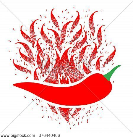 Red Hot Chilli Logo Designs Concept Vector, Pepper Logo Designs Template. Isolated Red Hot Chilli Pe