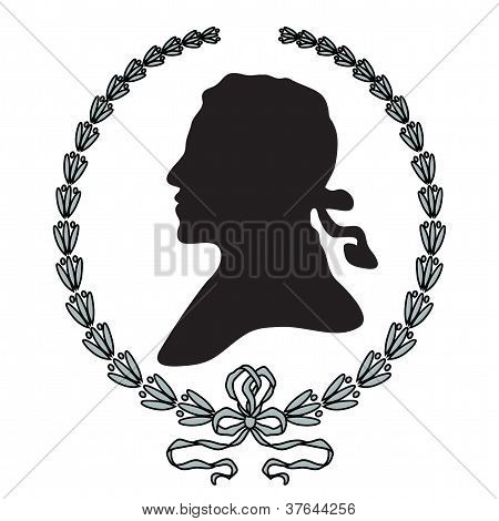 Laurel Wreath With Man Silhouette