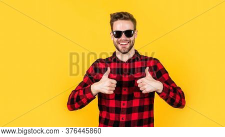 Unshaven Guy In Casual Style. Male Hairdresser And Barbershop. Male Beauty Trend. Bearded Man With S