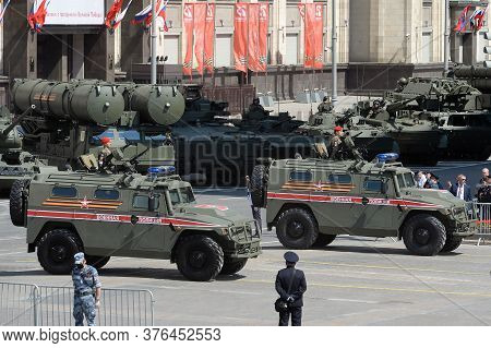 Moscow, Russia - June 24, 2020:multi-purpose Armored Vehicles
