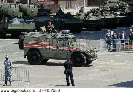 Moscow, Russia - June 24, 2020:multi-purpose Armored Car