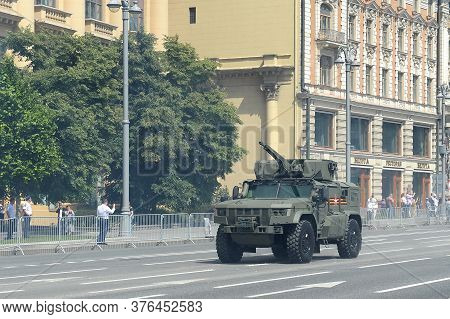 Moscow, Russia - June 24, 2020:multi-purpose Armored Car ` Typhoon-vdv `typhoon K-4386 On Mokhovaya
