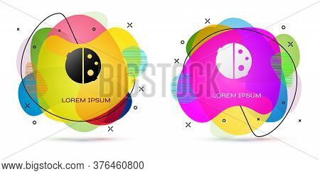 Color Eclipse Of The Sun Icon Isolated On White Background. Total Sonar Eclipse. Abstract Banner Wit