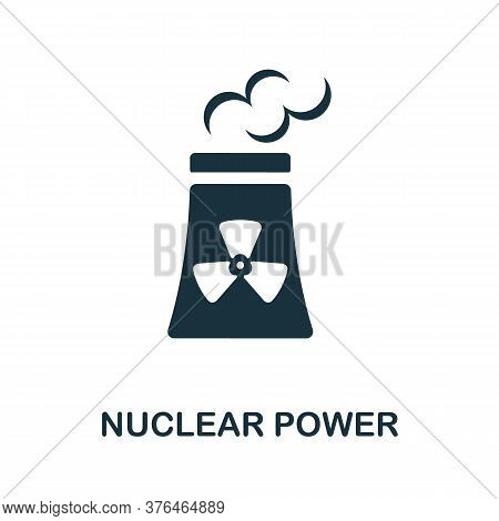 Nuclear Power Icon. Simple Element From Alternative Energy Collection. Creative Nuclear Power Icon F