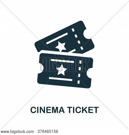 Cinema Ticket Icon. Simple Element From Cinema Collection. Creative Cinema Ticket Icon For Web Desig