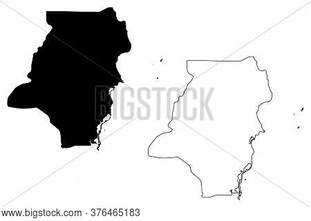 Stann Creek District (belize, Districts Of Belize) Map Vector Illustration, Scribble Sketch Stann Cr