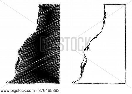 Henderson County, Illinois (u.s. County, United States Of America, Usa, U.s., Us) Map Vector Illustr