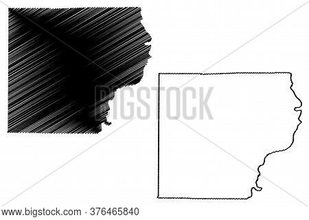 Lawrence County, Illinois (u.s. County, United States Of America, Usa, U.s., Us) Map Vector Illustra