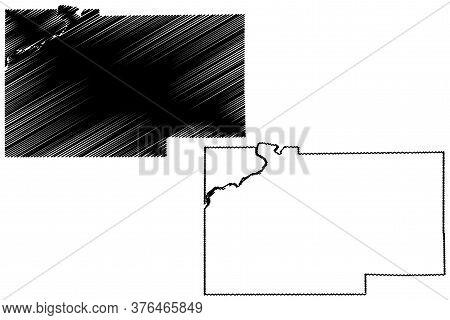Lee County, Illinois (u.s. County, United States Of America, Usa, U.s., Us) Map Vector Illustration,