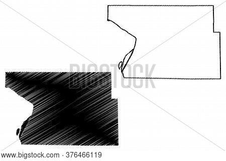 Madison County, Illinois (u.s. County, United States Of America, Usa, U.s., Us) Map Vector Illustrat