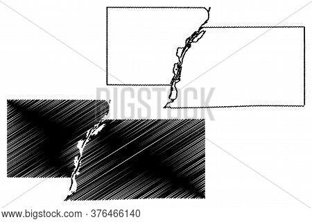 Marshall County, Illinois (u.s. County, United States Of America, Usa, U.s., Us) Map Vector Illustra