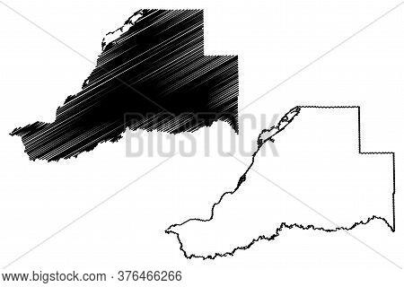Mason County, Illinois (u.s. County, United States Of America, Usa, U.s., Us) Map Vector Illustratio