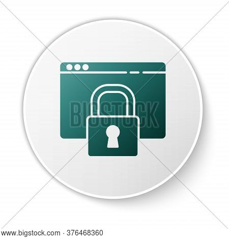 Green Secure Your Site With Https, Ssl Icon Isolated On White Background. Internet Communication Pro