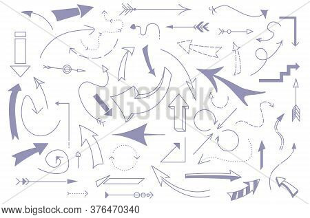 Set Of Different Arrows, Modern Infograpahic Design Template