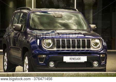 Kiev, Ukraine - April 21, 2020: Suv Jeep Renegade In The City.