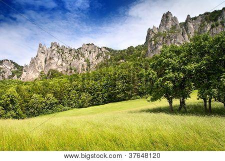 view of sulov rockies - slovakia - slovak republic