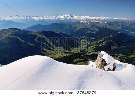 panoramic view from hochkonig to hohe tauern poster