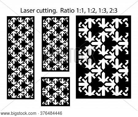 Lazer Patterns Kit. Set Of Decorative Vector Panels For Lazer Cutting. Template For Interior Partiti