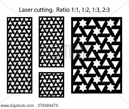 Vector Patterns For Cnc. Set Of Decorative Vector Panels For Laser Cutting And Cnc. Template For Int
