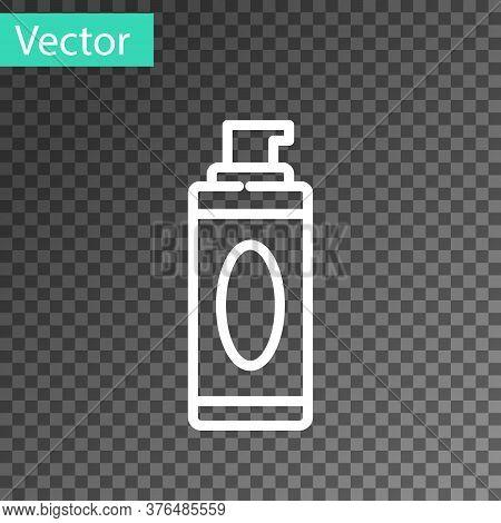 White Line Shaving Gel Foam Icon Isolated On Transparent Background. Shaving Cream. Vector Illustrat