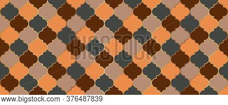 Moroccan Seamless Mosaic Ornament. Ottoman Mosque Window Motif. Moroccan Seamless Design Traditional