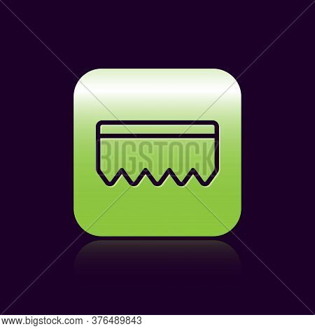 Black Line Sponge With Bubbles Icon Isolated On Black Background. Wisp Of Bast For Washing Dishes. C