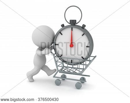 3D Character Buying Stopwatch