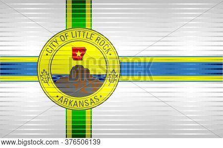 Shiny Grunge Flag Of The Little Rock - Illustration,  Three Dimensional Flag Of Little Rock