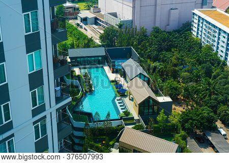 Condominium In Bangkok. Modern Accommodation With Facilities And Pool. Bangkok / Tailand - 02.04.202